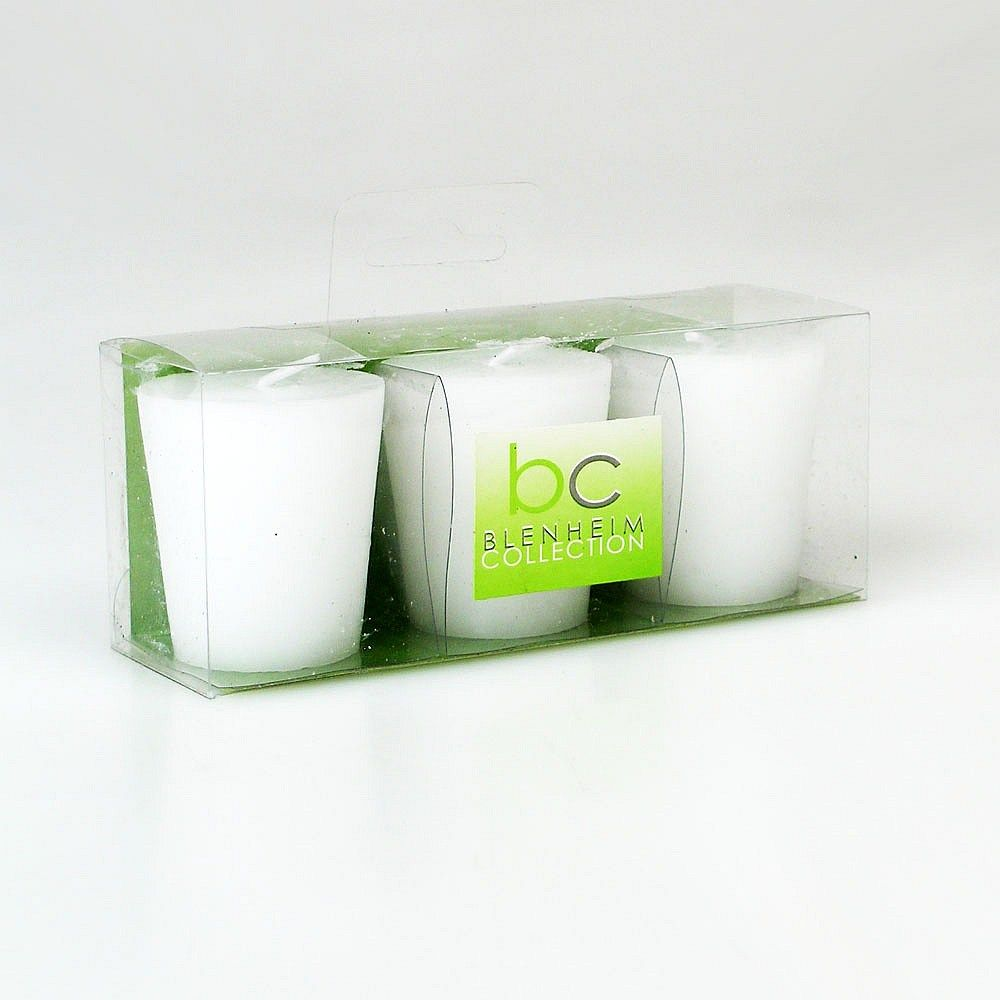Boston Living Votive Candles White Set of 3