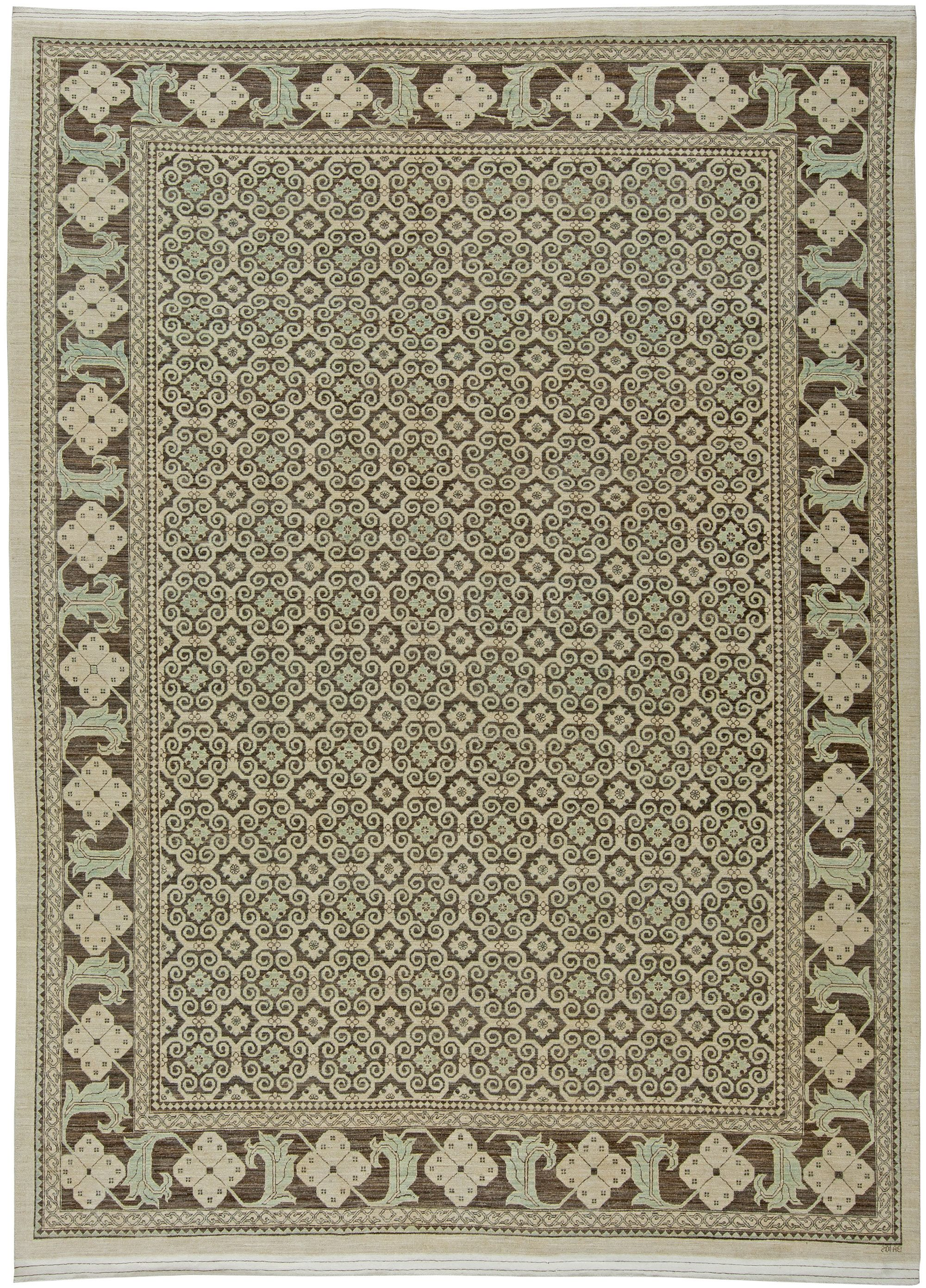 A modern rug of a traditional look. Perfect choice for traditional interiors as well as for a modern interior design. The carpet is of a very good quality Price: $15,000
