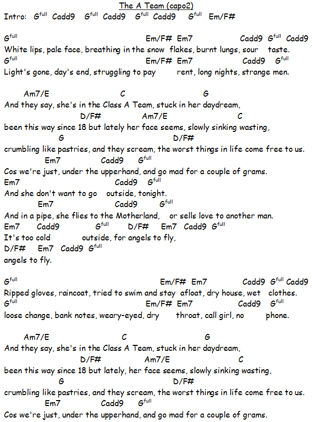 Lyric on the wings of a snow white dove lyrics : okay thank you whoever posted this!! #theateam #guitarchords ...