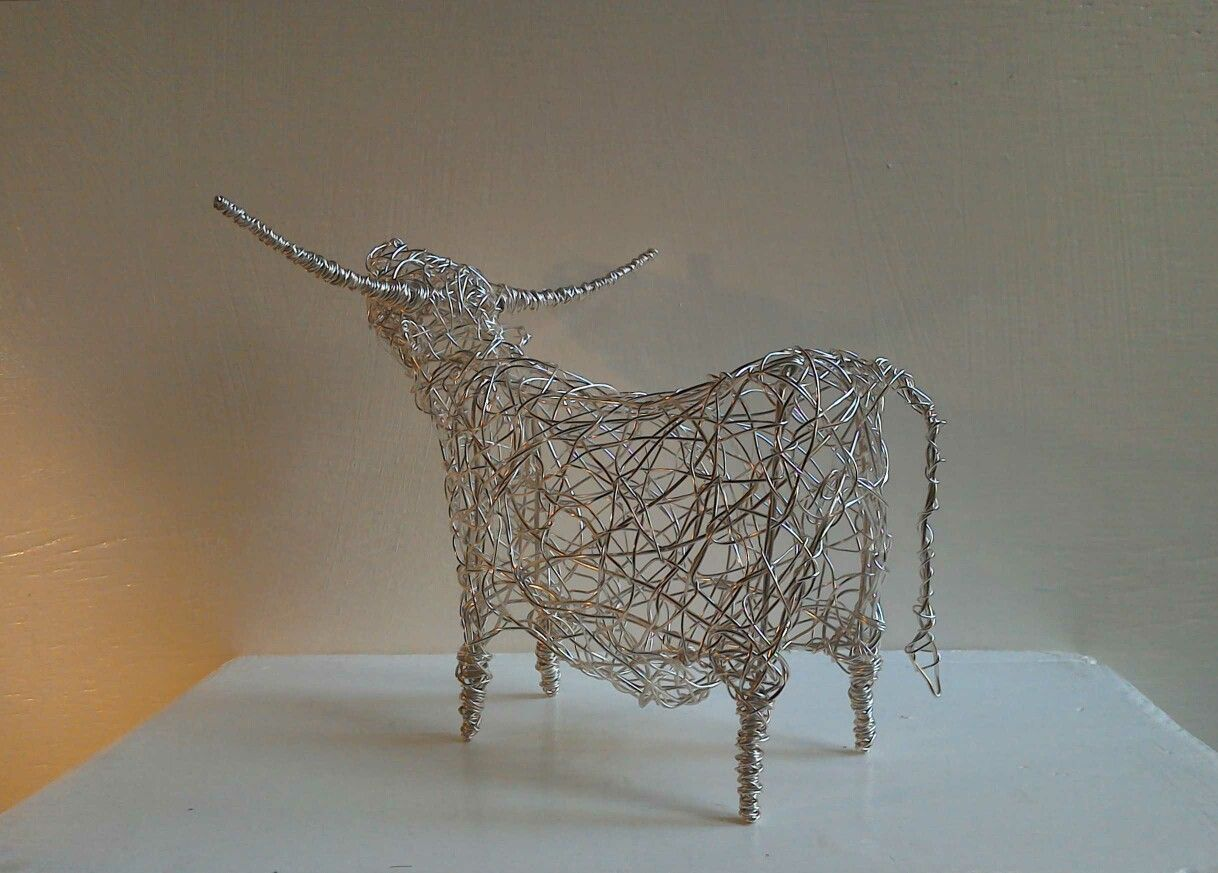 Moo Like You Mean It! #cow #sculpture #wirework