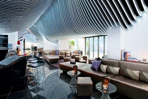 Living Room Bar Terrace At W New York Downtown Photo By W New