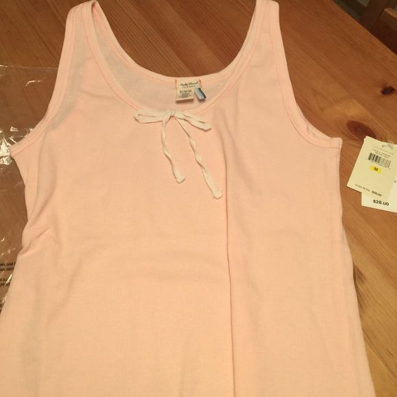 Lucky Brand Tank top Light pink NWT Lucky Brand, Light Pink with cute white bow. In original bag. Ordered wrong color Lucky Brand Tops Tank Tops