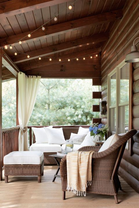 How To Hang String Lights From Ceiling Endearing Hang String Lights Over Your Porch Add Some Twinkle To Family Game Decorating Inspiration