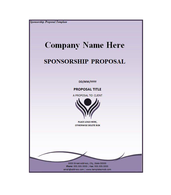 Sponsorship Letter Template   Sponsorship Template