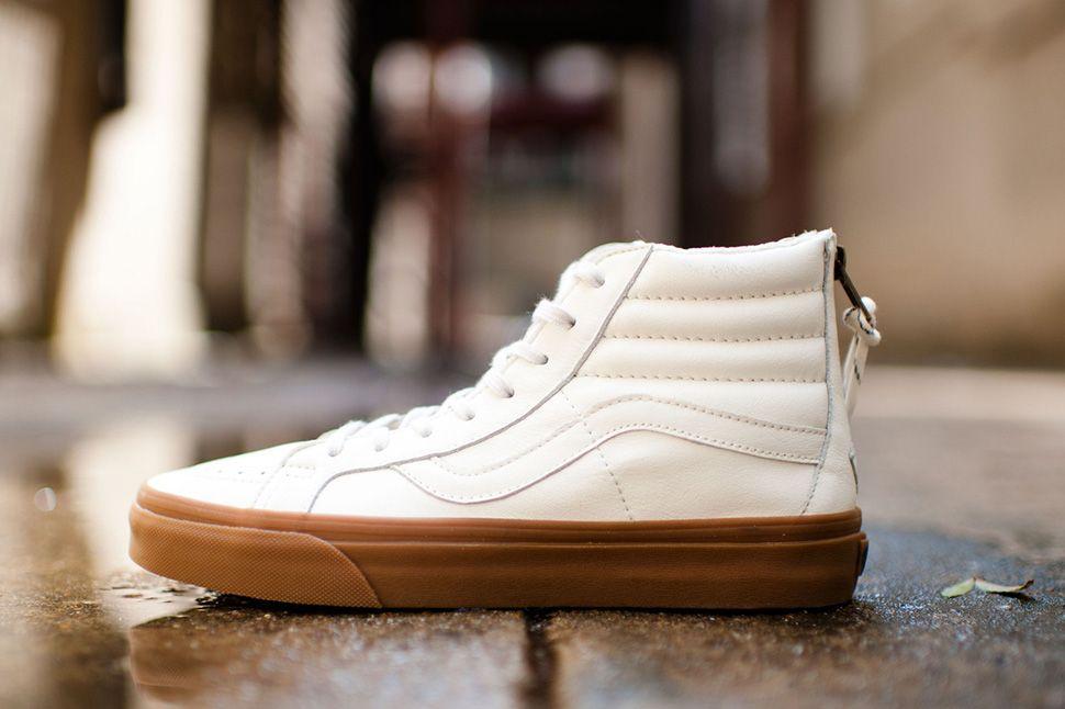 Vans Sk8 Hi Reissue Zip Gum Pack Eu Kicks Sneaker Magazine Sneakers Blue Suede Shoes Perfect Sneakers