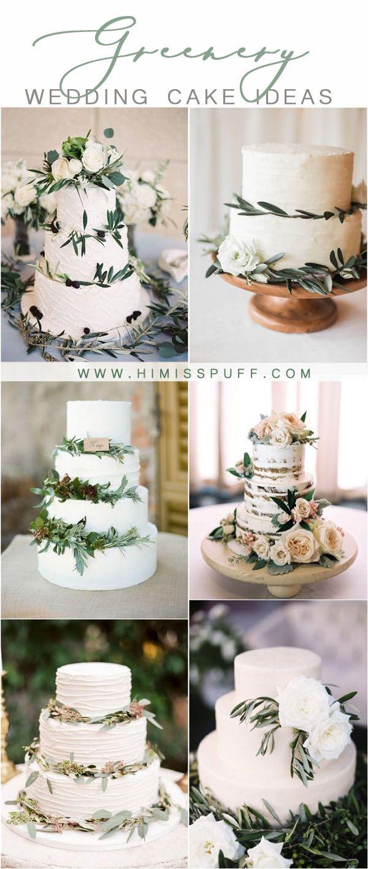 20 Neutral Greenery Buttercream Wedding Cake Ideas