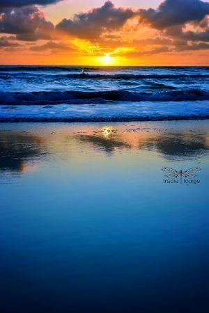 Blue & Yellow Beach