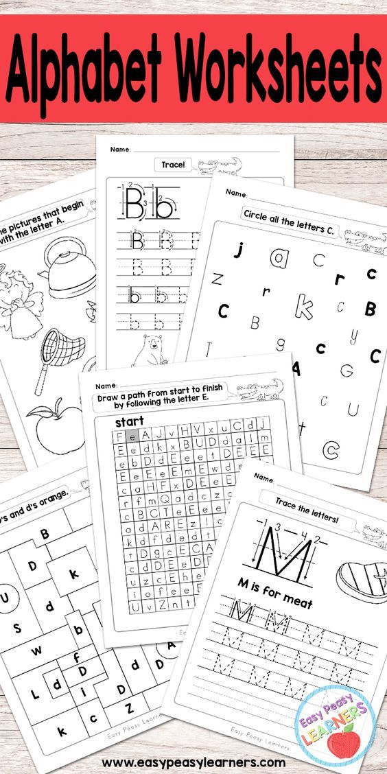 Alphabet Worksheets - Tracing, Identifying Letters and More ...