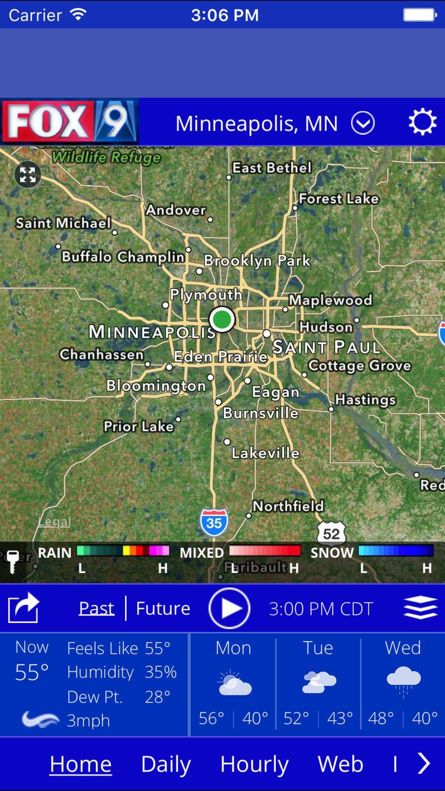 Fox 9 Weather Station Television Kmsp Ios Eagan Burnsville Maplewood