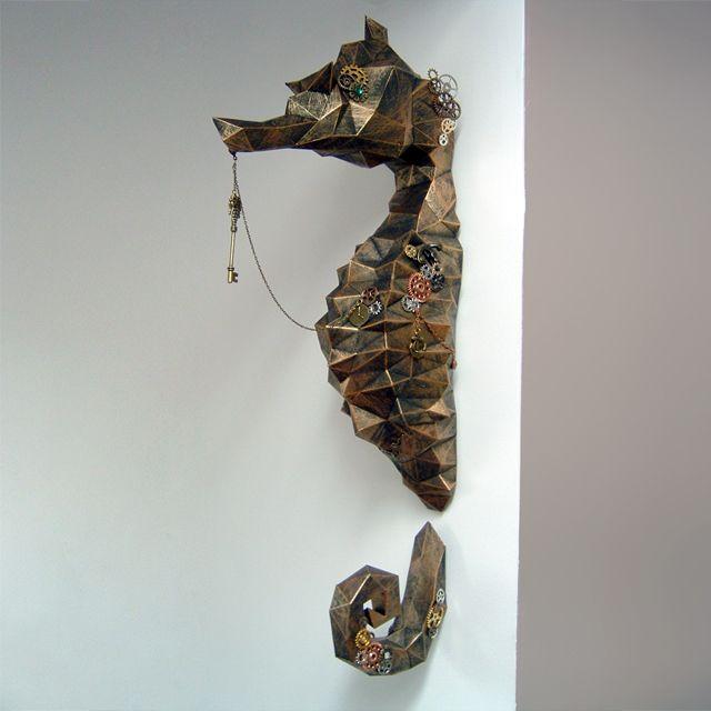 Paper art seahorse do it yourself paper sculpture diy pinterest solutioingenieria Choice Image