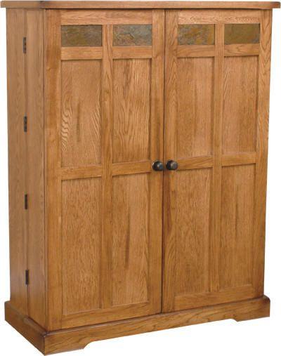 SD 2723RO+Sedona+Rustic+Oak+Media+Storage+Cabinet