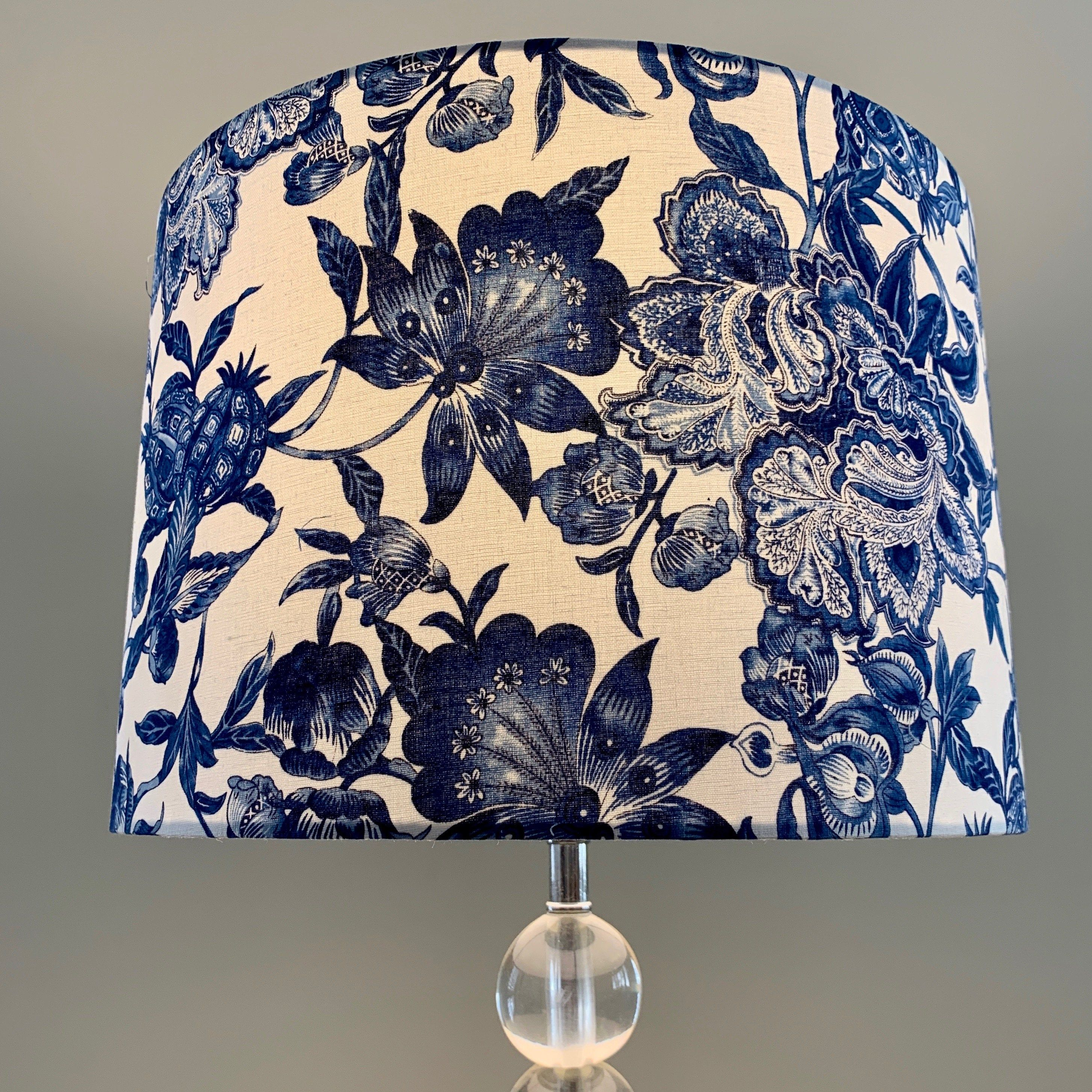 Blue And White Floral Lamp Shade Hamptons Style Boho Lamp Shade Indigo Navy In 2020 Boho Lamp Lamp Shade