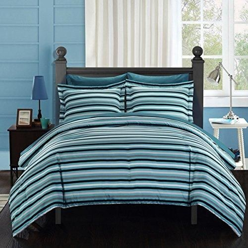 and twin stripe dickscottplumbing black white piece teal set striped gray blue comforter info