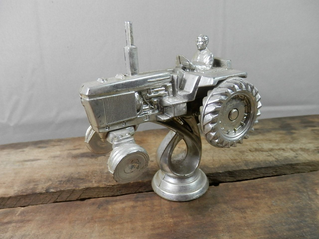 Farm Tractor Hood Ornament : Vintage tractor hood ornament trophy topper redneck craft