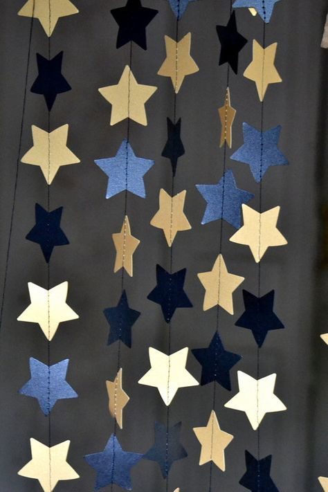 Black Gold Star Garland Halloween Decor Holidays By Happyplywood