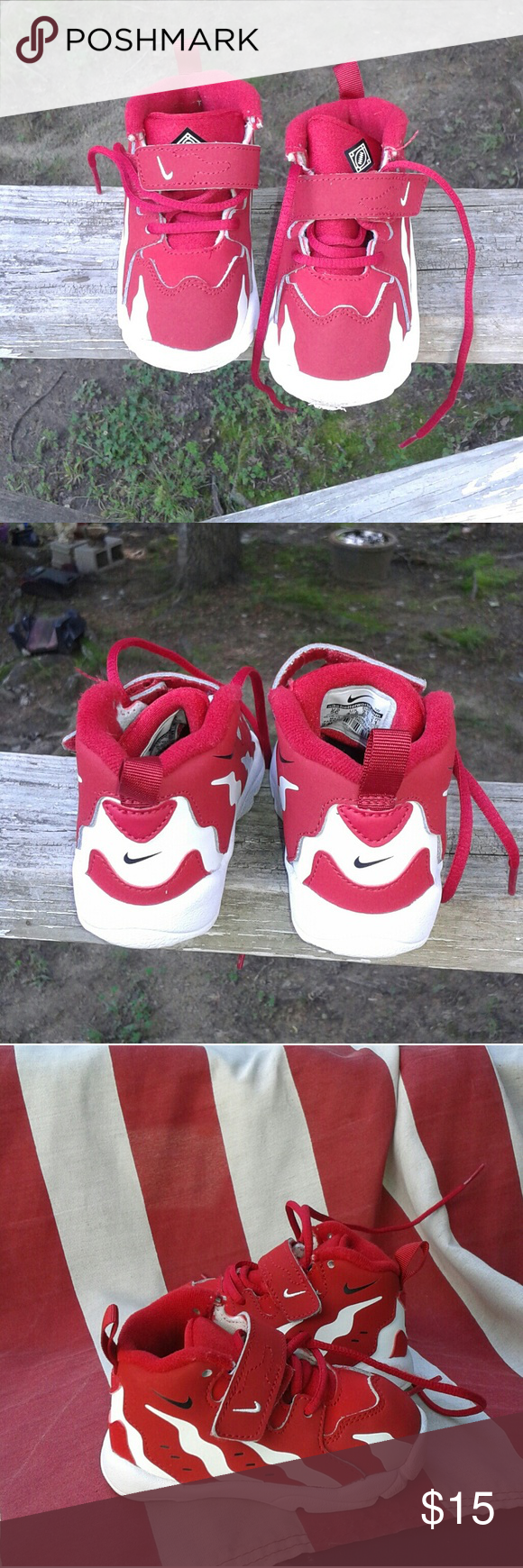 Selling this Nike Max 96 toddler boy's Shoe's size 5c on Poshmark! My  username is