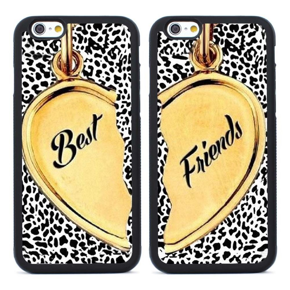 pretty nice 08c8f 6edcc 2pcs Best Friends Heart Pattern Silicone Cases for iPhone 4 5S SE 5C ...