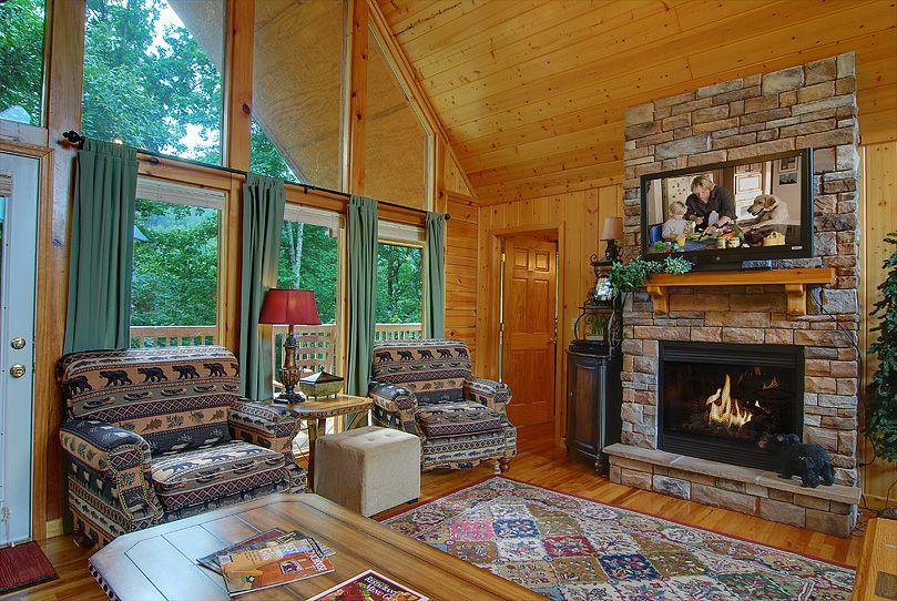 Dancing Bears Den 2 Bedroom Cabin Rental Rustic Cabin Relaxing Pool New Homes