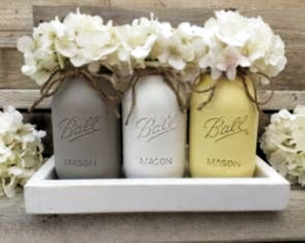Baby shower ides gender neutral gray mason jars 32 New Ideas #babyshower #baby
