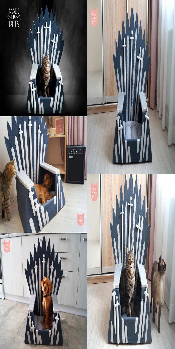Wondrous Cat Bed Iron Throne Cat Furniture Cat House Christmas Creativecarmelina Interior Chair Design Creativecarmelinacom