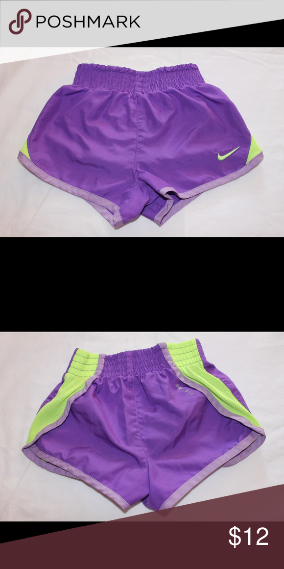 Purple and Green Nike Dri Fit Shorts sz 3t Preowned. EUC Nike Bottoms Shorts