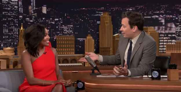 Actor Gabrielle Union appeared on The Tonight Show on Monday to talk about the 15th anniversary of Bring It On.