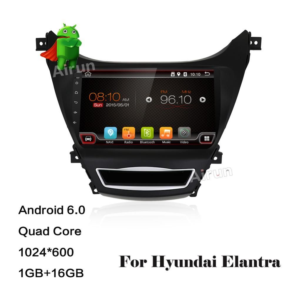 Quad Core Android 6 0 0 1gb Ram Car Dvd Player Navigation Gps Fit For Hyundai Elantra 2013 2014 2015 Radio With Images Car Dvd Players Dvd Player Hyundai Elantra