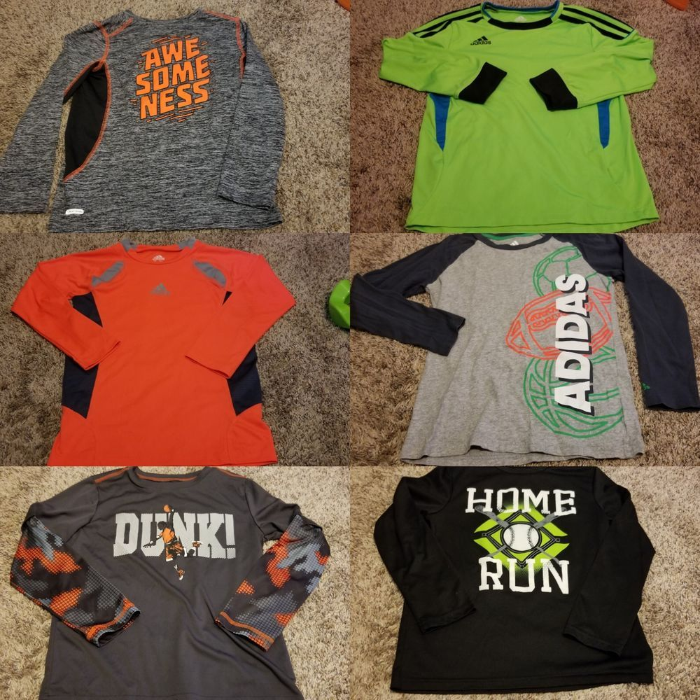 2110e7ee8e0b Nike and Adidas Youth Boys Lot Of 7 long sleeve shirts size 7   25.00 End  Date  Thursday Oct-4-2018 17 49 19 PDT Buy It Now for only …
