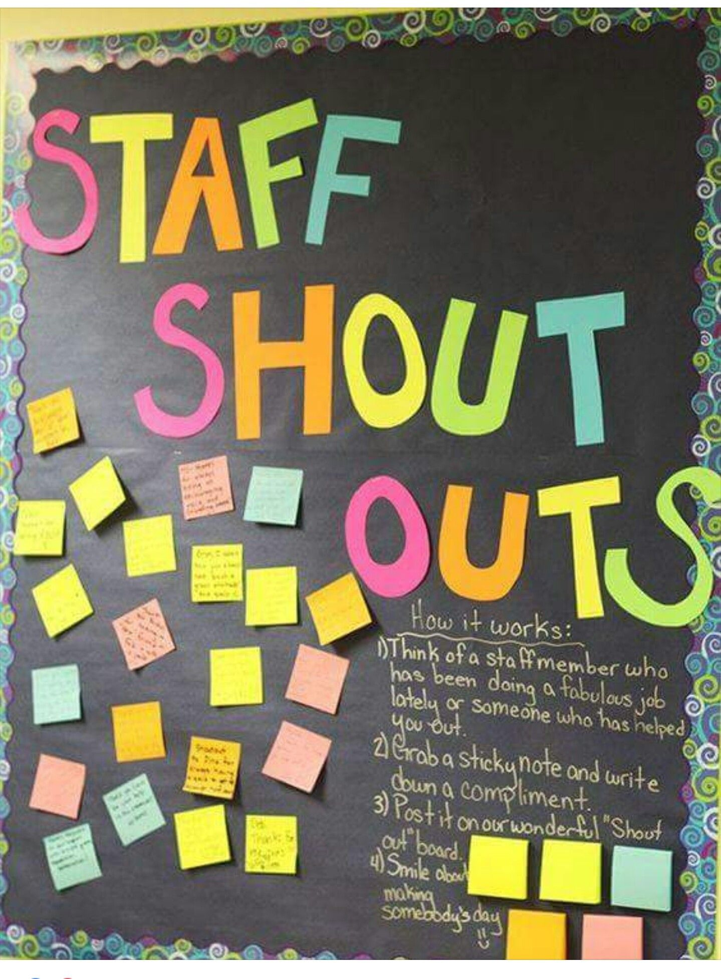 Love this idea - could we change 'staff' to general shout ...