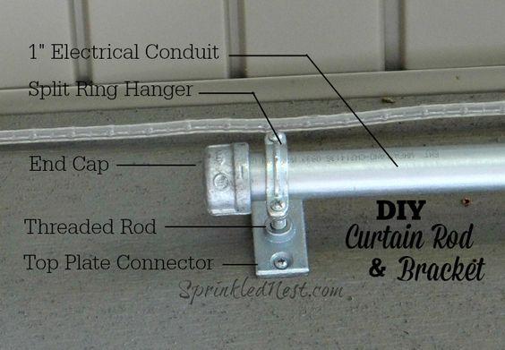 Diy Curtain Rod And Bracket Diy Curtain Rods Diy Curtains Curtain Rods
