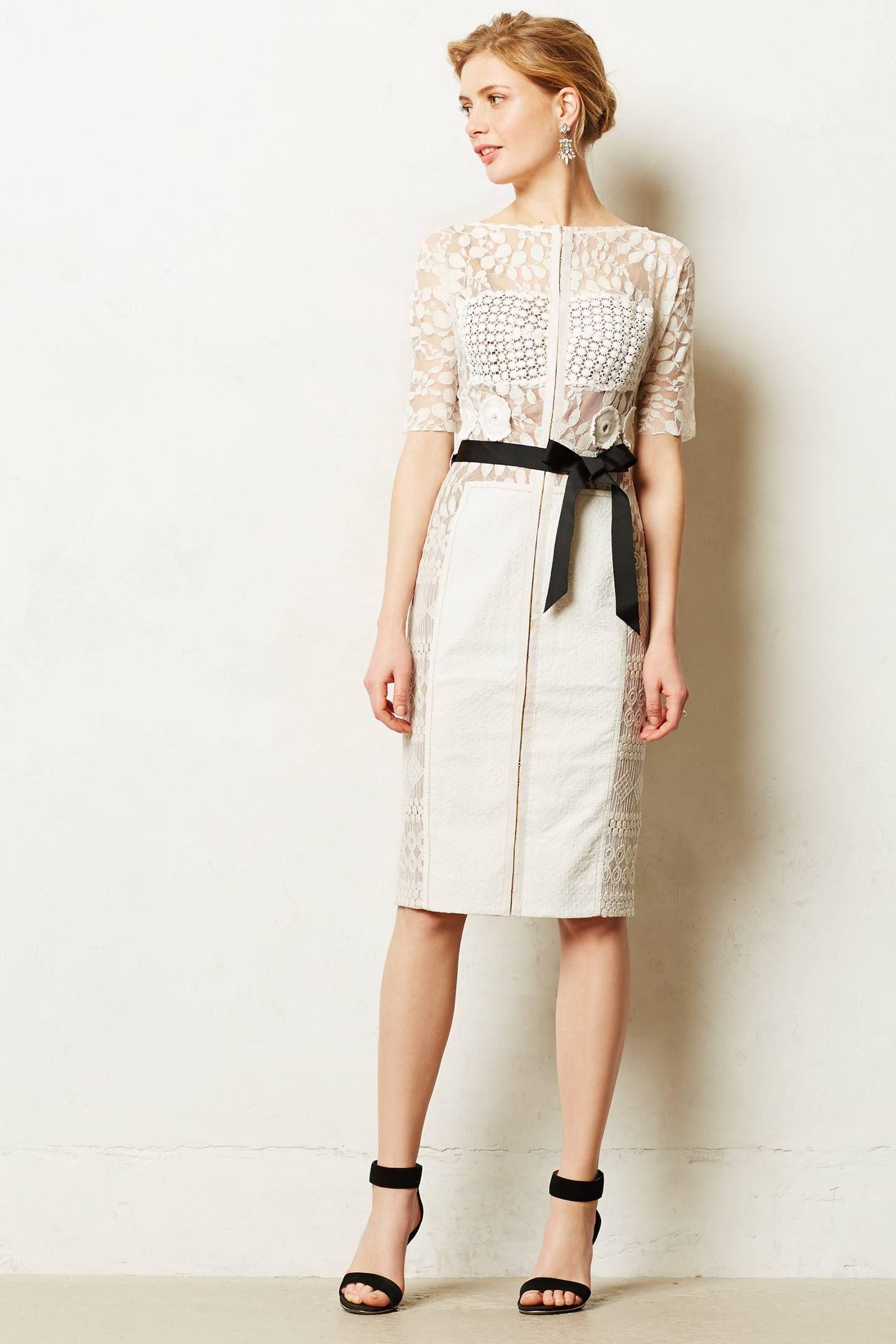 Byron Lars Carissima Sheath Dress Little White Dresses Long Cocktail Dress Dresses