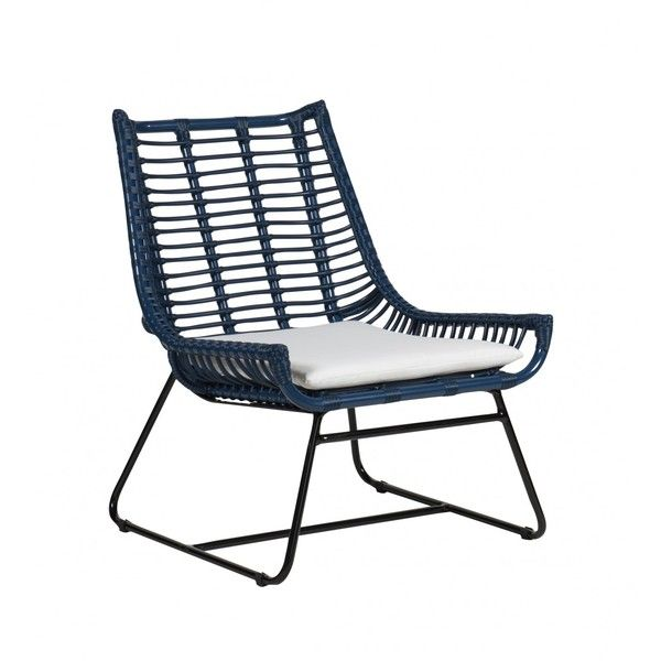 Palm Springs Plaza Lounge Chair Navy (1.570 BRL) ❤ liked on Polyvore featuring occassional chairs