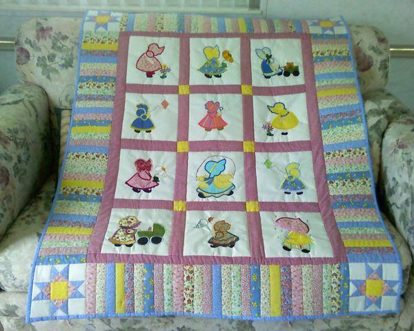 Cute border | Quilts - Sun Bonnet Sue | Pinterest | Sunbonnet sue ... : sunbonnet sue quilt blocks - Adamdwight.com