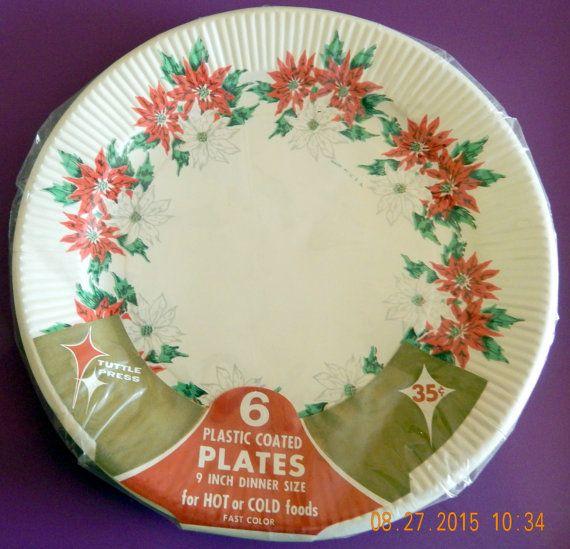 NIP Vintage Paper Plates Christmas & NIP Vintage Paper Plates Christmas | Very VTG Kitchen Disposable ...