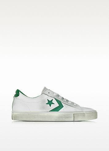 d23878612 Pro Leather Vulc Ox Off White Distressed Leather Unisex Sneaker - Converse  Limited Edition