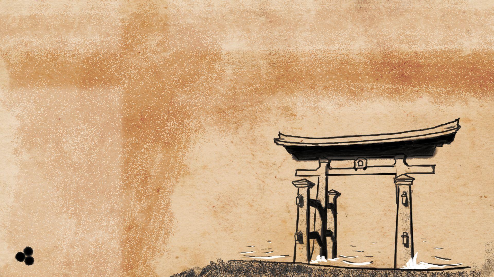 Traditional Japanese Art Wallpaper Background for Desktop ...