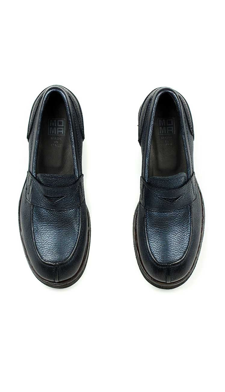 0ae16995369 A fun take on the classic penny loafer for women by MOMA. Thick plantation  crepe soles make them super comfortable and put some spring into your step.
