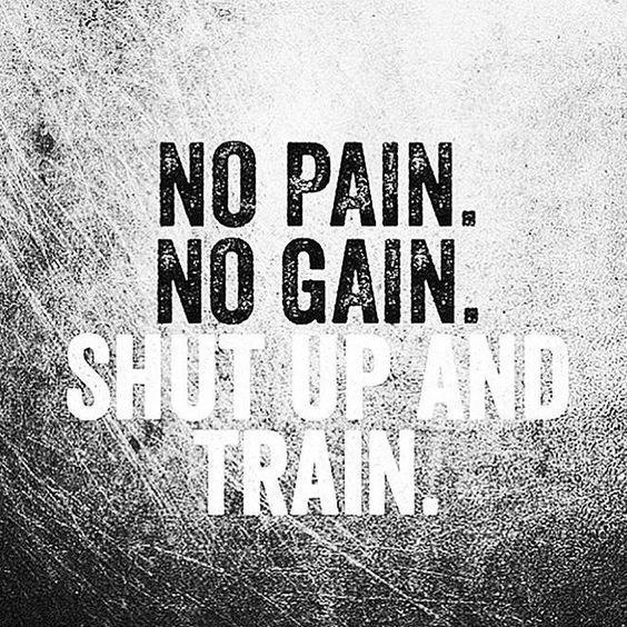 Photo of Trainingszitate. Kein Schmerz. Kein Gewinn