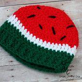 Preemie Watermelon Hat pattern by Cream Of The Crop Crochet™