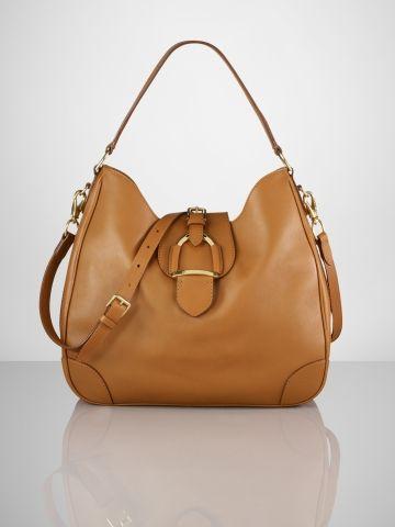 d9e8dc6f47fb Tumbled Calf Stirrup Hobo - Ralph Lauren Ralph Lauren Handbags - RalphLauren .com