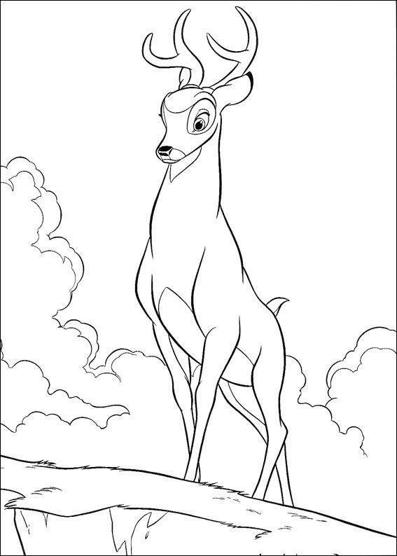 Cartoon Deer Coloring Page