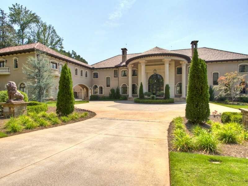 30 000 Square Foot Mediterranean Atlanta Mega Mansion Hits The