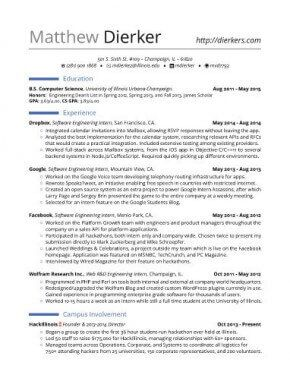 Internship Resumes And Cover Letter That Landed High Profile Jobs