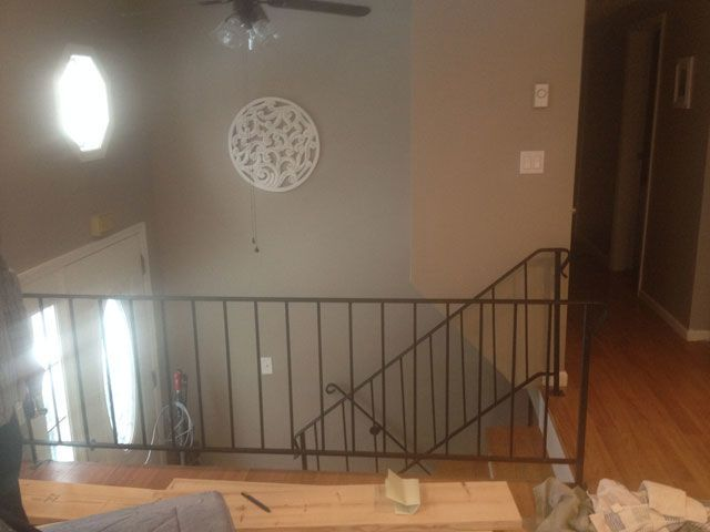 Stair Railing Ideas Staircase Makeover Half Walls