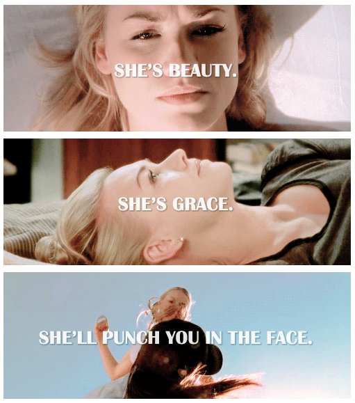 She is beauty, she is grace, she'll punch you in the face #SarahWalker #Chuck