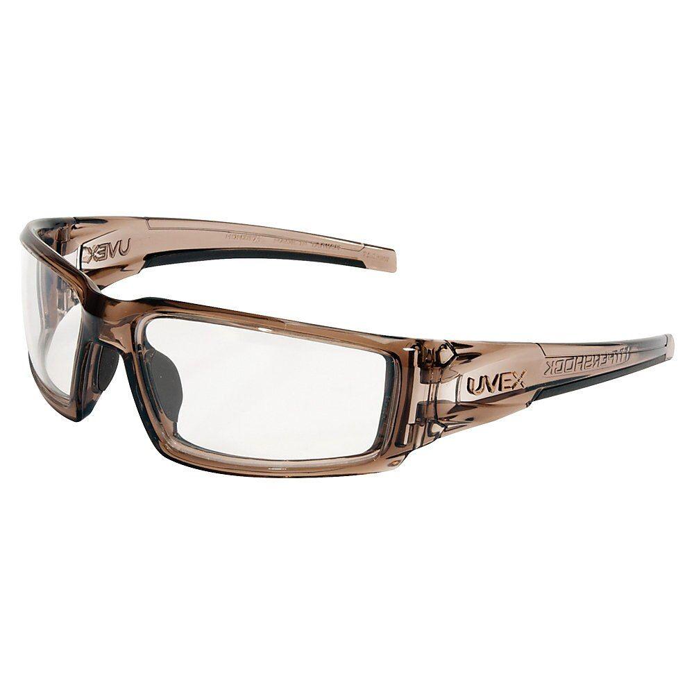 Honeywell uvex hypershock safety glasses smoke brown