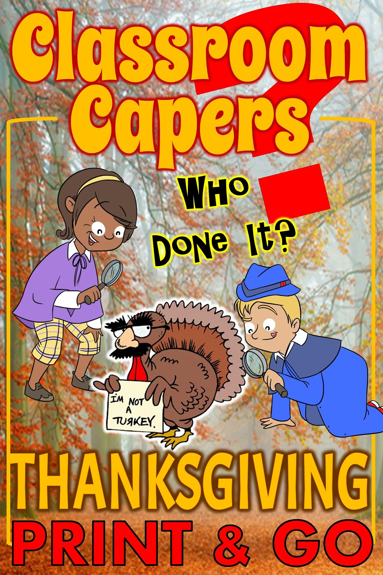 Thanksgiving Activity Classroom Capers Whole Class Game