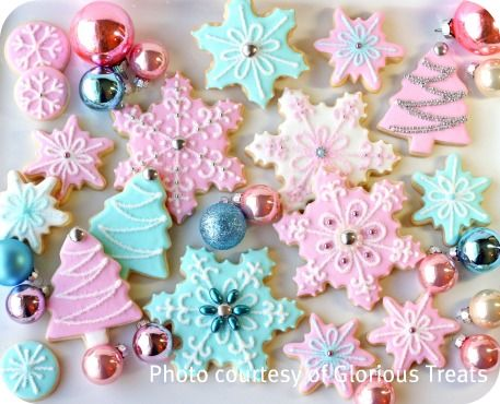 Snowflake Cookies Flooded With Royal Icing I Want To Learn How To