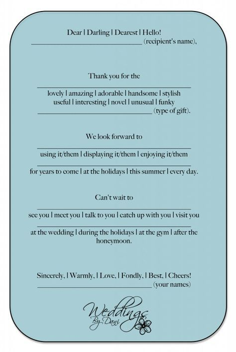 Wedding Thank You Cards! Template made easy! Thank you notes