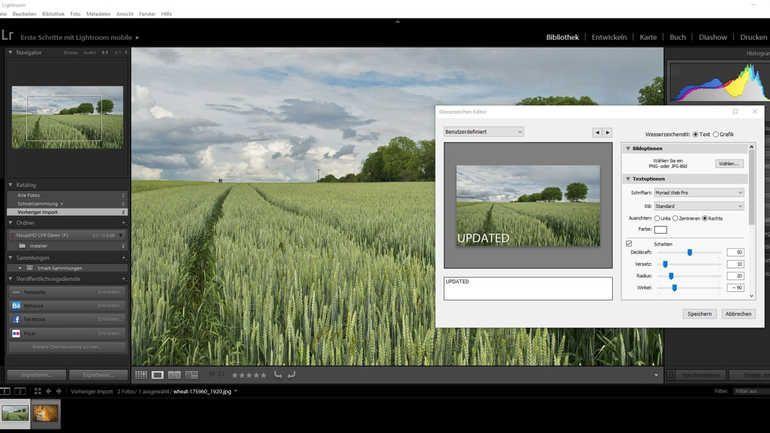 Der Wasserzeichen Editor Von Adobe Lightroom Hat Viele Möglichkeiten